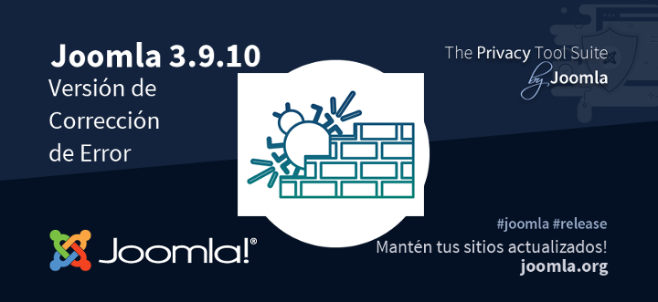 Joomla 3.9.10 ya está disponible