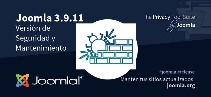 Joomla 3.9.11 ya está disponible