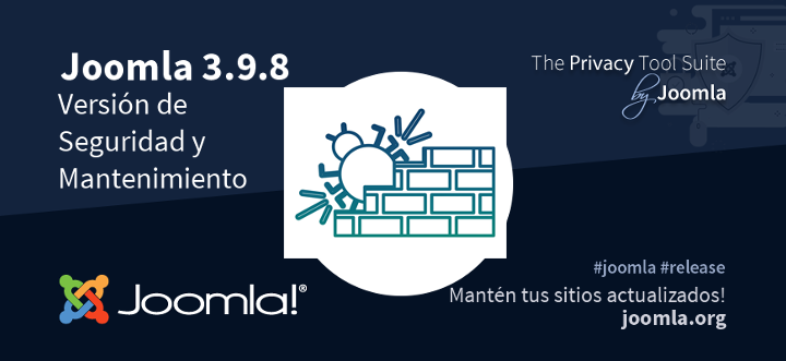 Joomla 3.9.8 ya está disponible